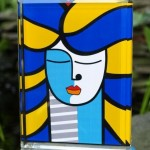 "Britto ""American Girl"" sculpture"