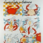 """Crackin' Crabs in Baltimore"" Serigraph Poster signed-in-the-plate by artist K.T. Waterman"