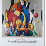 "Ginzburg ""Air and Space Bicentennial"" poster"