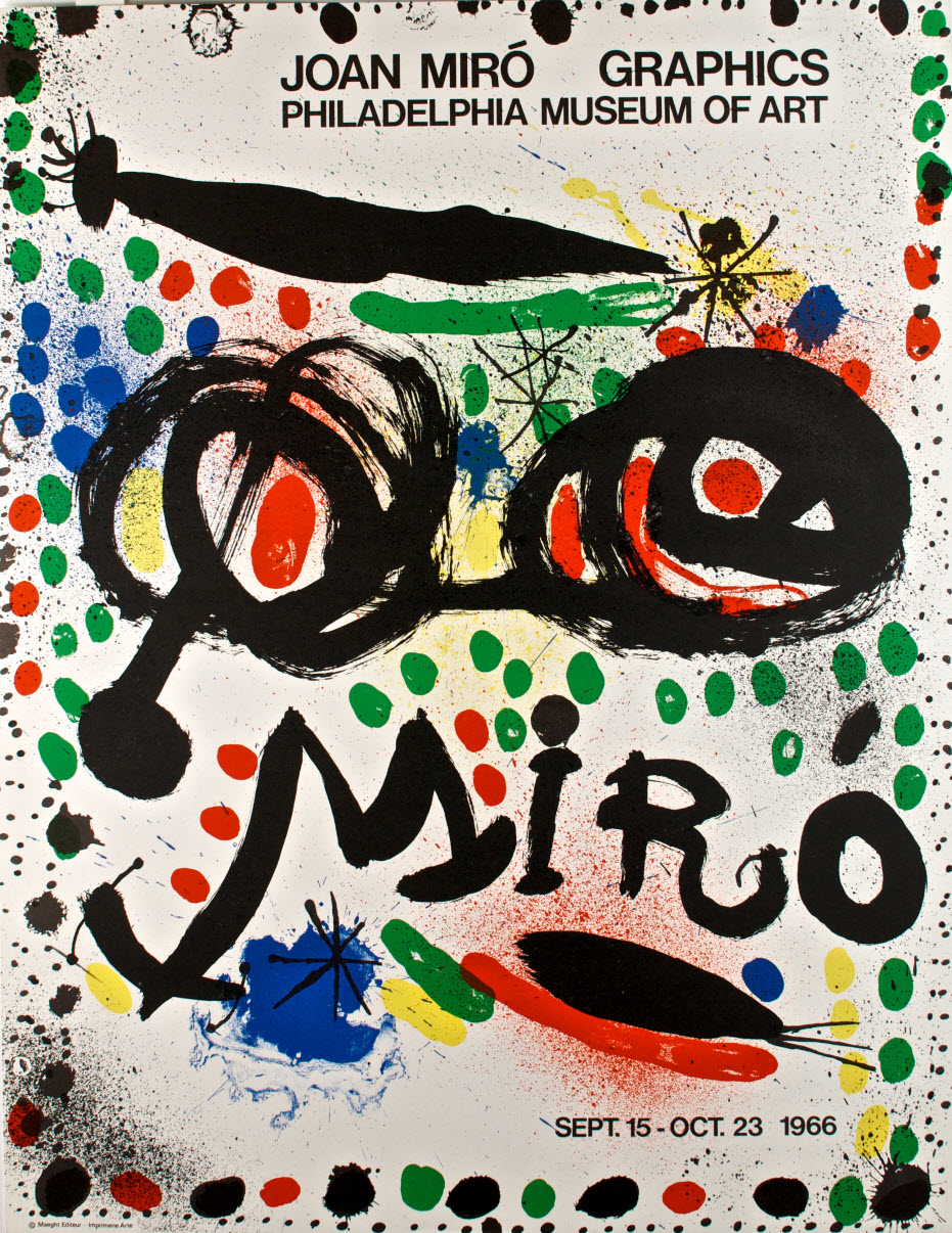 Miro philadelphia museum lithographed fine art poster by for Posters art prints