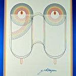 &quot;Rabbi Schneerson&#039;s 90th Birthday&quot; Fine Art Poster by Yaacov Agam