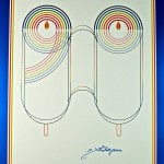 """Rabbi Schneerson's 90th Birthday"" Fine Art Poster by Yaacov Agam"