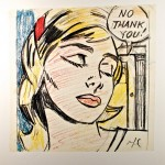 "Roy Lichtenstein ""Study for No Thank You"" poster"