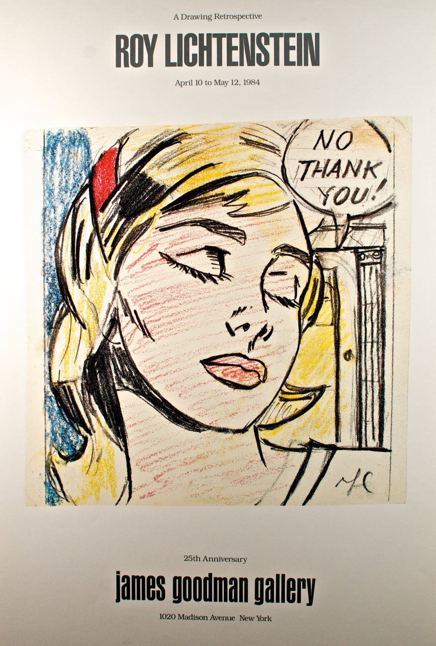 Roy lichtenstein study for no thank you poster for Poster roy lichtenstein