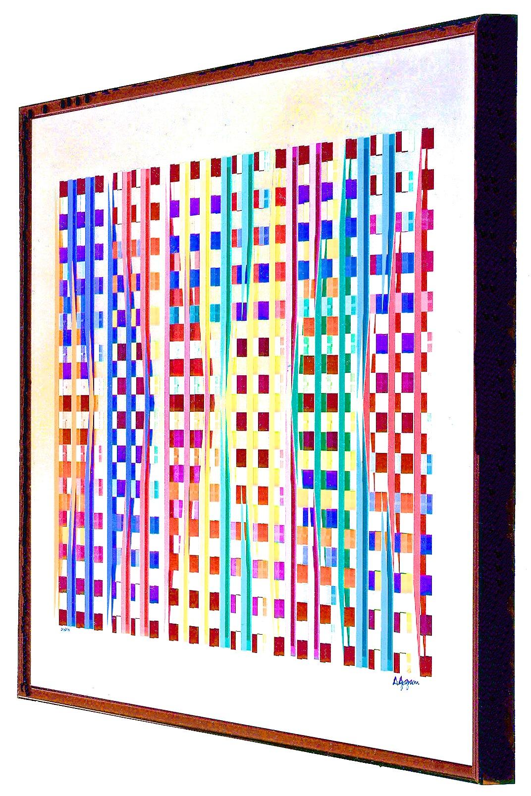 """Agam """"Environmental Space"""" Mirror Print"""