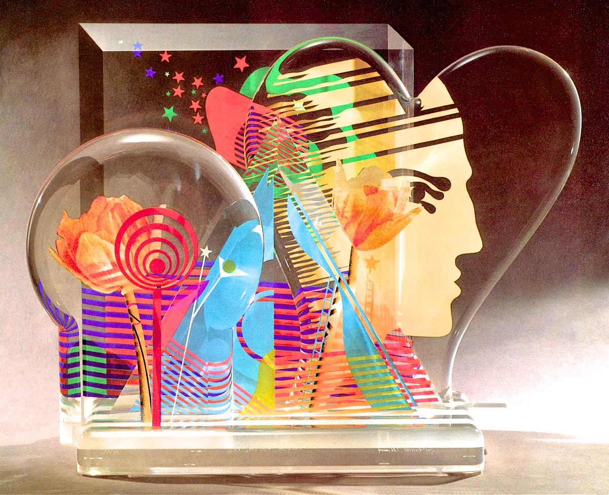 """Ginzburg sculpture """"Reflecting Worlds"""""""