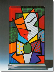 "Britto ""Environmentalist"" sculpture"