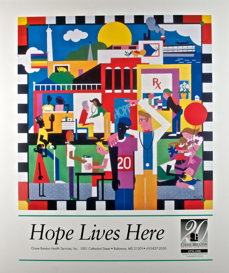 Hope Lives Here Lithographed Fine Art Poster By Tom Miller