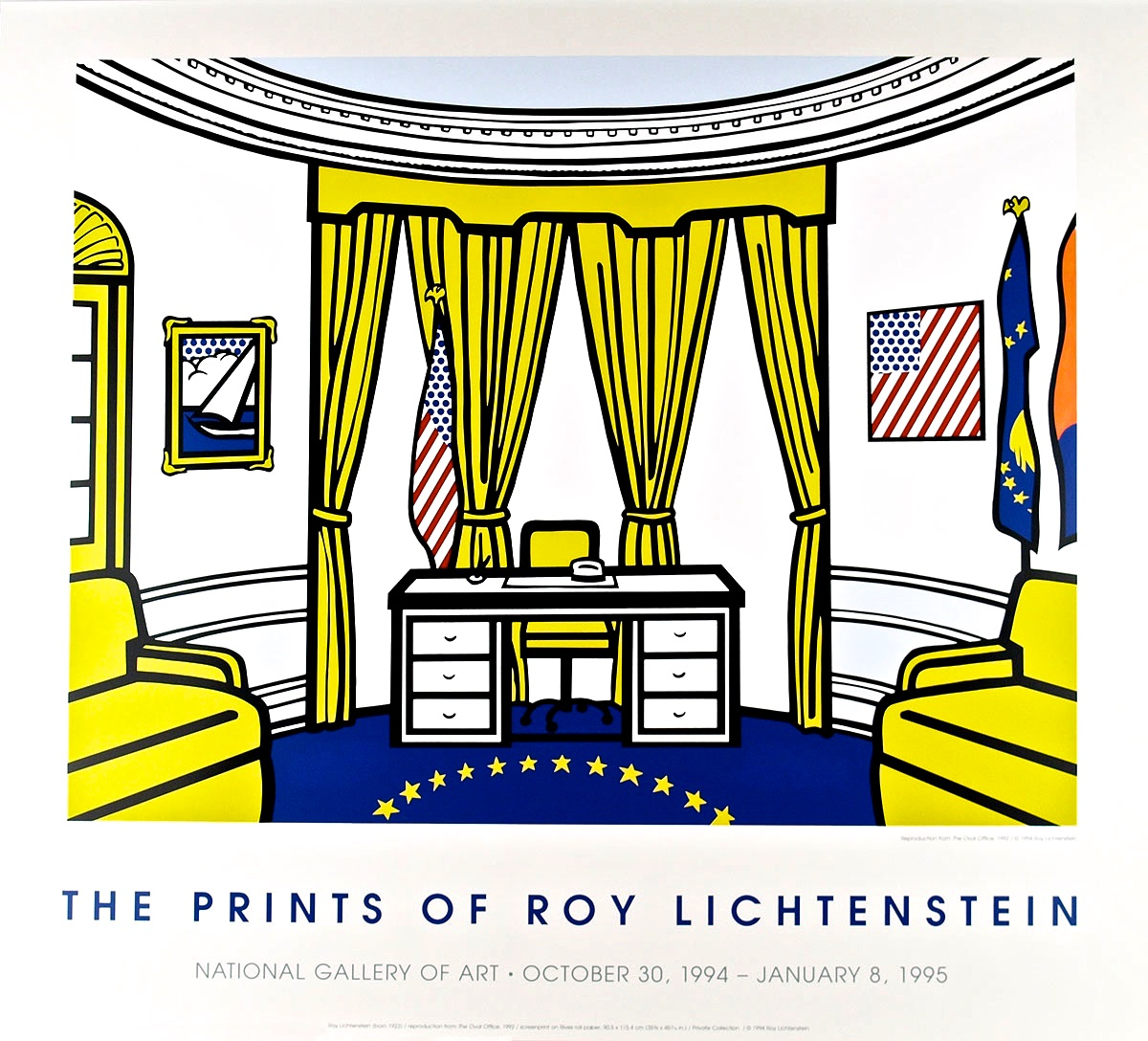 "Roy Lichtenstein ""Oval Office"" poster"