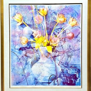 """Rhapsody in Blue"" Mixed-Media Serigraph by Yankel Ginzburg"