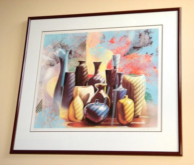 "Santa Fe"", framed Serigraph by Yankel Ginzburg"