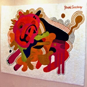 """Leo"" Wool Tapestry by Yankel Ginzburg"